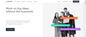 Asana tool for Work from home