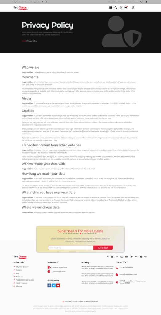 Red Ocean-Website Template Kits 7